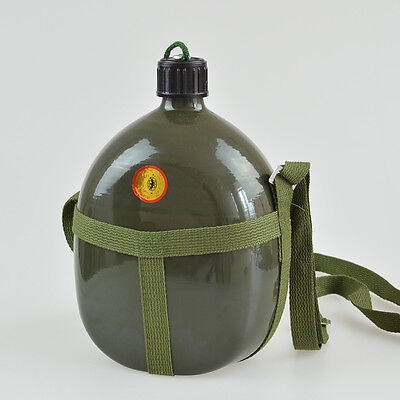 1L Army Military Patrol Water Bottle Canteen Camo Camping Hiking Can with Straps