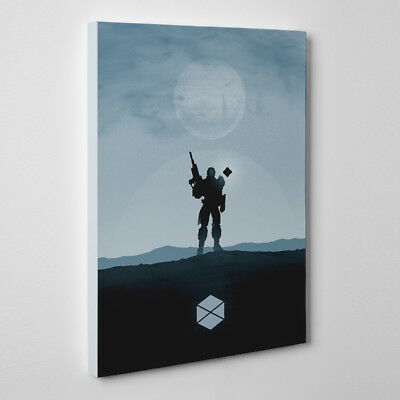 Destiny Titan - Framed Canvas Art Print destiny game hunter warlock titan