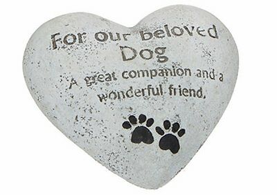Memorial ~ Pet/Cat/Dog Resin ~ HEART ~ Grave Marker