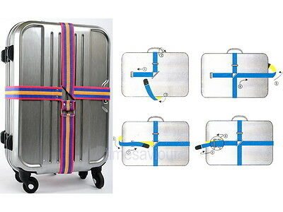 4.2m Cross Luggage Strap Belt for Suitcase Baggage