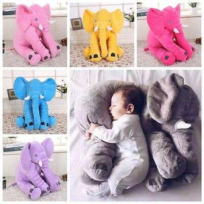 Baby Long Nose Elephant Doll Soft Plush Stuff Toys Lumbar Cushion Pillow Fashion