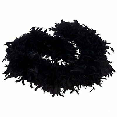 Value feather boa party fancy dress showgirl burlesque 200cm Black