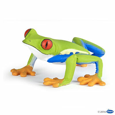 RED EYED TREE FROG Replica # 50210 ~ New 2016 ~FREE SHIP/USA w/ $25.+ Papo