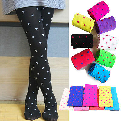11 Color Kids Girls Tights Opaque Pantyhose Polka Dot Ballet Pants Stockings NEW