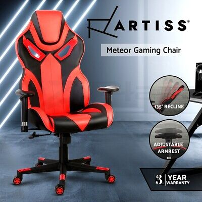 Artiss Gaming Office Chairs Computer Racing Executive Recliner Racer Seating Red