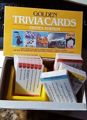 Vintage 1984 Disney Edition GOLDEN TRIVIA CARDS - lightly used/New