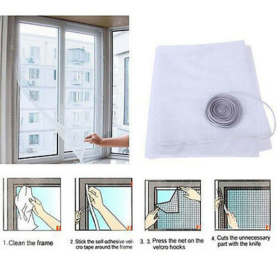 White Anti-Insect Fly Bug Mosquito Window Curtain Net Mesh Screen Protector MH