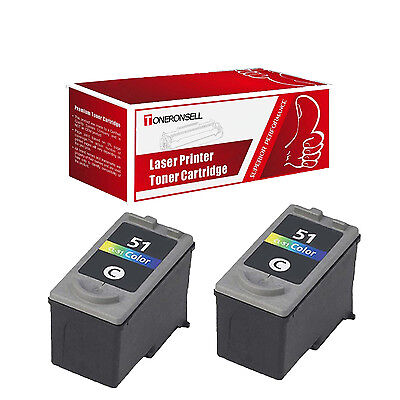 2PK Canon Compatible CL-51 Color Inkjet Cartridge For Canon PIXMA MP150 160 170