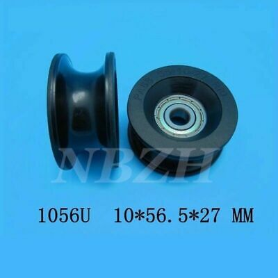 4PCS 1056UU U Type Groove Guide Pulley Sealed Rail Ball Bearing 10 x 56 x 27mm