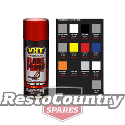 VHT High Temperature Spray Paint FLAMEPROOF FLAT RED. Exhaust engine flame proof