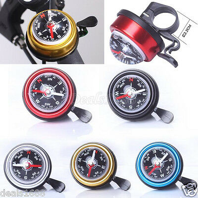 Bike Bicycle Bell Horn Ring Metal Plastic Sport Cycling Sound Alarm with Compass