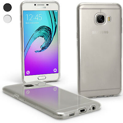 Glossy TPU Gel Case for Samsung Galaxy C5 C5000 Skin Cover + Screen Protector