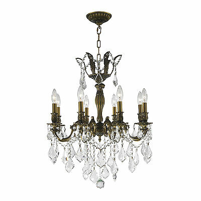 French Imperial Collection 8 light Antique Bronze Finish and Clear Crystal Chand