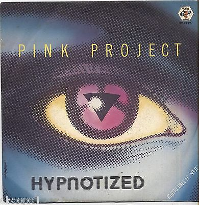 """PINK PROJECT - Hypntized - VINYL 7"""" 45 ITALY 1983 NEAR MINT COVER VG+"""