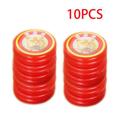 10pcs Chinese Tiger Balm Red Refresh Oneself Muscle Relax Essential Oil Massage