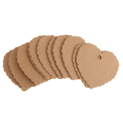 100pcs Brown/White Kraft Paper Hang Tags Label Party Price Gift Luggage Cards