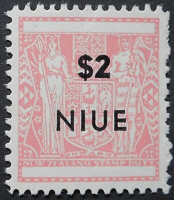 Niue 1967 Two Dollars opt perf 11 SG 138a u/mint