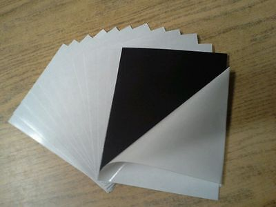 """25 Self Adhesive  Flexible Magnetic Sheets   4"""" x 6"""" (15 mil)"""
