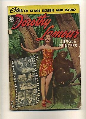 Dorothy Lamour #3 (G-) Fox Features 1950 Photo cover Wood art! (c#08925)