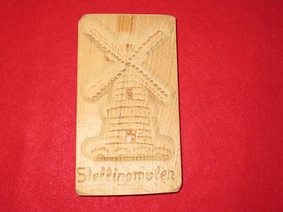 Hand Carved Stollingmolen Windmill Cookie Press Made Holland By Antre Unstained