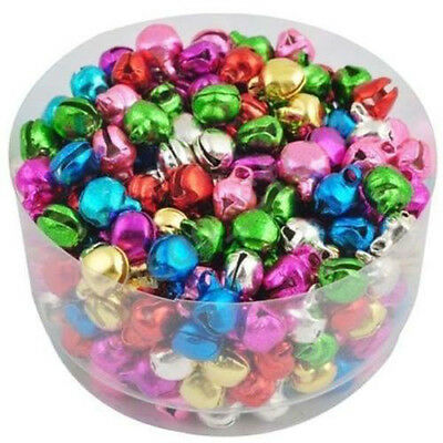 100 pcs Jingle Bells Xmas Charms Jewelry Mixed Beads Pendants Ornaments