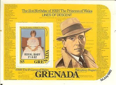 GRENADA - 1982 -  21st. Birthday of HRH The Princess of Wales - MNH Min. Sheet