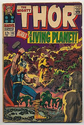 Thor #133 (1966) Good/Very Good (3.0) ~ Silver Age ~ Marvel ~ Thor vs Ego