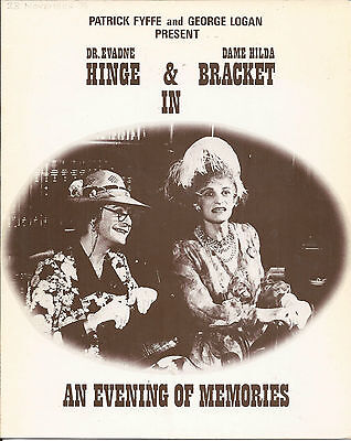 Hinge & Bracket In An Evening Of Memories Theatre Pamphlet 1976