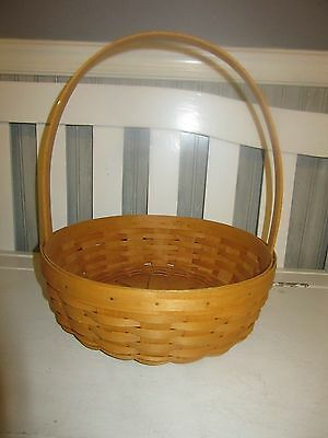 Longaberger Large 2001 Easter Basket Classic Stain Perfect Condition