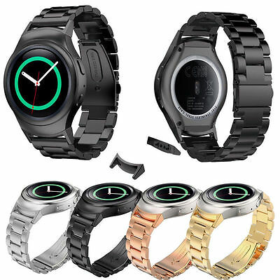 Luxury Sport Stainless Steel Watch Band+Connector For Samsung Gear S2 RM-720 AU