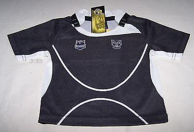 New Zealand Warriors NRL Boys Supporter Home Jersey Size 00 New