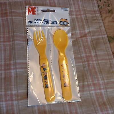Despicable Me Minions Flatware Set Fork and Spoon NEW