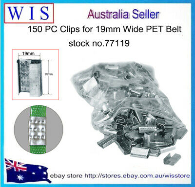 150/PK Metal Seals Packing Strap Clips Buckle for PP and PET Straps,19mm-77119