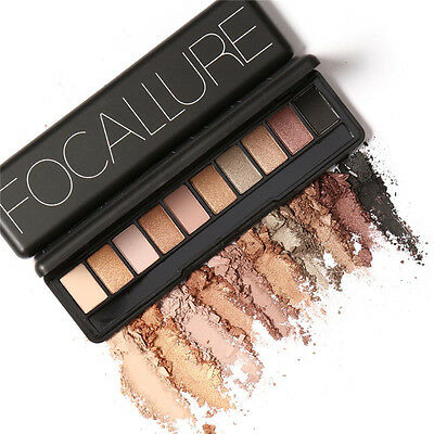 Focallure 10 Colors Eye Shadow Makeup Shimmer Matte Eyeshadow Palette Set