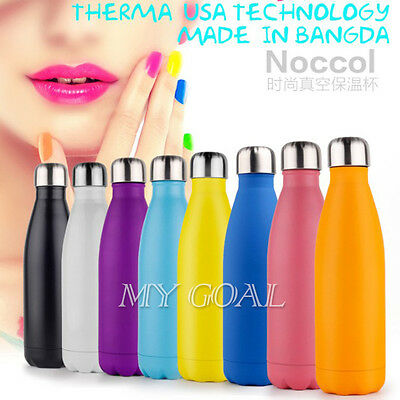 Thermal Vacuum Insulated Stainless Steel Flask Water Bottle Thermos Sports 500ml