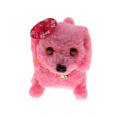 Pink Puppy Electronic Pets Animals Walking Barking Dog with Hat Baby Toy