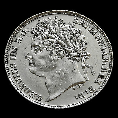 1821 George IV Milled Silver Sixpence – First Reverse