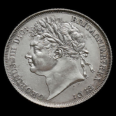 1825 George IV Milled Silver Shilling – Laureate Head – UNC