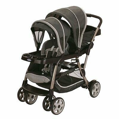 Graco Ready2Grow Click Connect LX Dual Baby Stroller, Glacier | 1934624