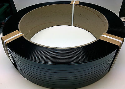 """7,200 foot coil Machine & Hand Grade 1/2"""" .020 HD Polyester Plastic Strapping"""