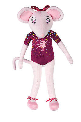 "Official Brand New 17"" Purple Angelina Ballerina Plush Soft Toy Purple Doll"
