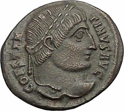 Constantine I the Great 324AD  Ancient Roman Coin Wreath of success  i57459