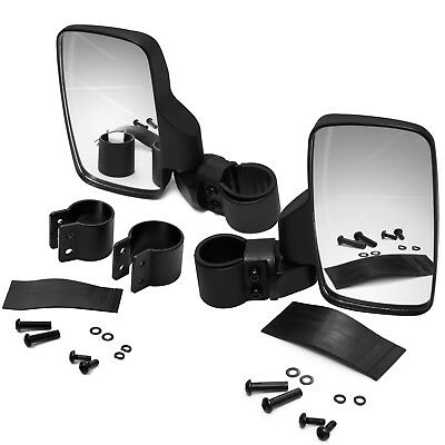 Side View Mirror Set for UTV Offroad High Impact Break-Away Large Wide View Race
