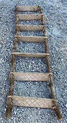 Authentic 7 Foot Nautical Rope Ladder - BIG SHIP SALVAGE