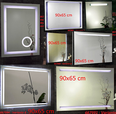 SECONDS Bathroom Mirror Wall mirror illuminated LED or NEON Lighting Bathroom