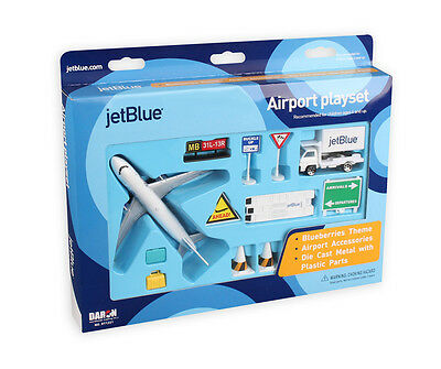 Realtoy RT1221 Jetblue Airways Airbus A320 Bluberries Jet Model Airport Play Set