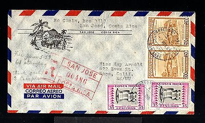 12392-COSTA RICA-AIRMAIL REGISTERED COVER SAN JOSE to CALIFORNIA(usa) 1959.Aereo