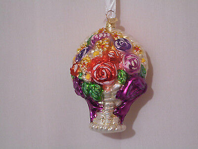 Christopher Radko Beautiful Big Bouquet Of Multi Color Flowers 5""