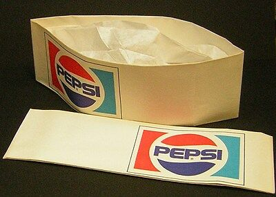 "VINTAGE PEPSI 1970's..""Soda Jerk Hat""..Excellent!"