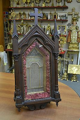 + Large Older Reliquary Shrine with Hundreds of Relics + Apostles & Evangelists+